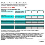 Stormwater Estimating Worksheet Now Available