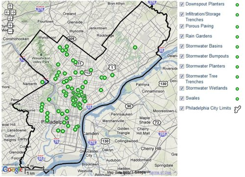Chart Philly\'s Projects & Progress on the Big Green Map | DeepRoot Blog