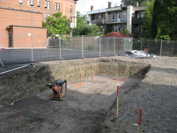 St. Clement School - excavation