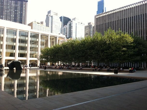 Lincoln Center trees 2012