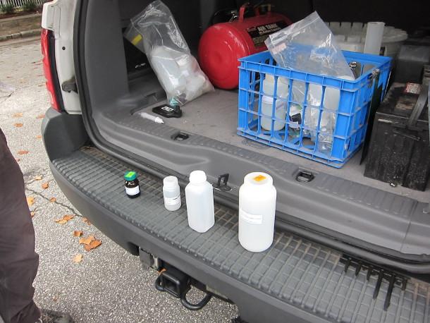 NCSU-pollutant test bottles