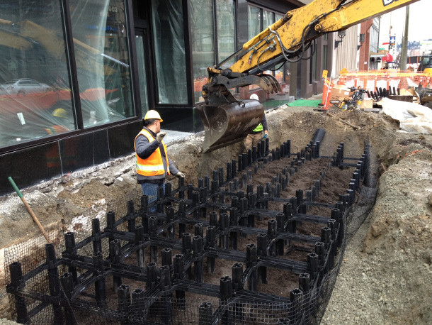 Silva Cells were installed along Pacific Avenue in Tacoma, WA.