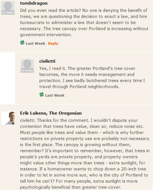 Oregonian - three tiered conversation