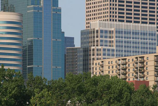 Trees in downtown Minneapolis. Flickr credit: urbanfeel