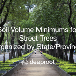 Soil Volume Minimums for Street Trees Organized by State/Province