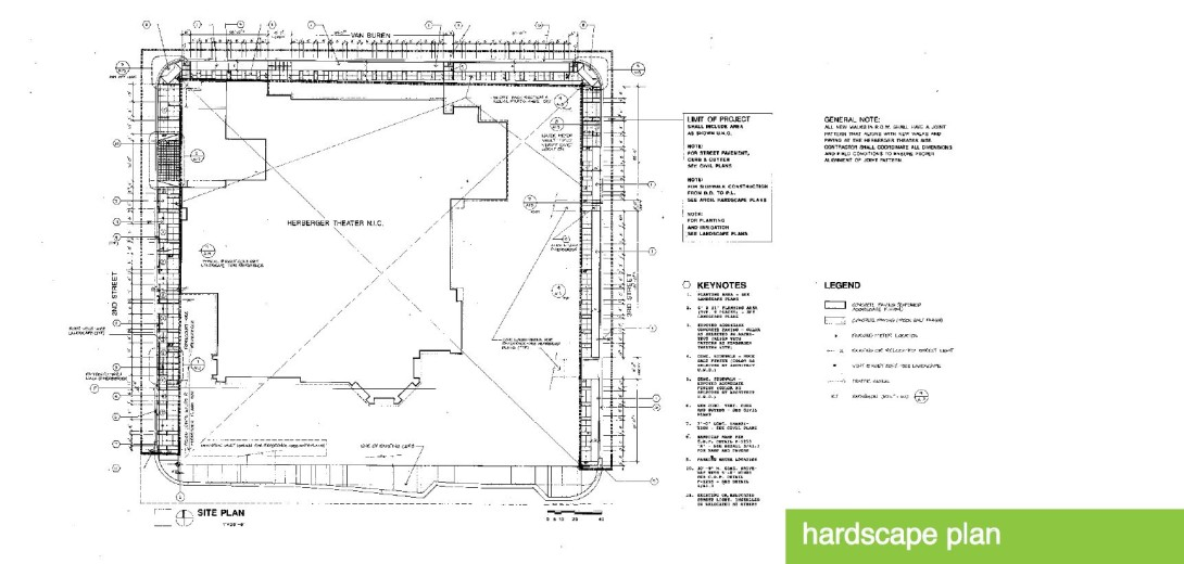 Herberger Theater hardscape plan