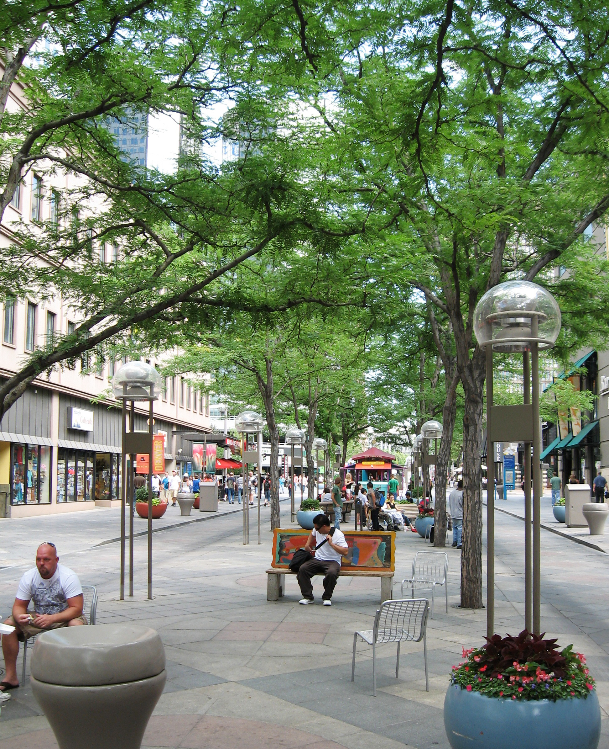 Denver's 16th Street Mall today. Photo credit: © OLIN