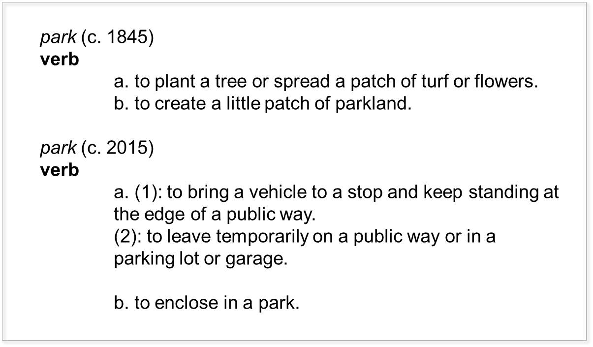 Definition of park