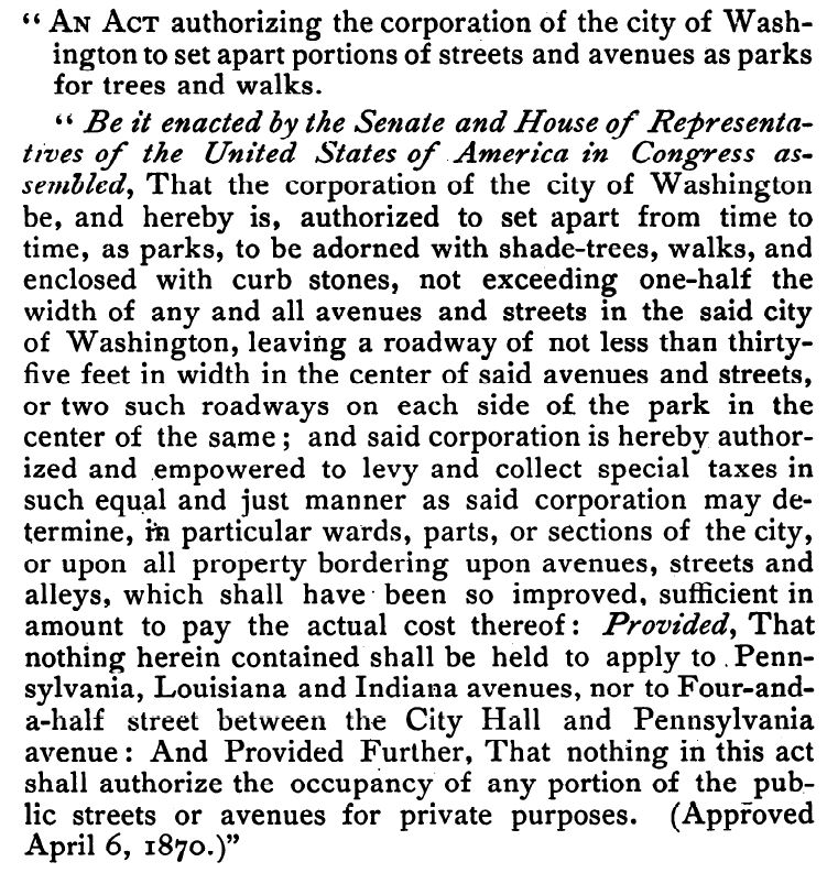 1870_Law putting Parking into Effect