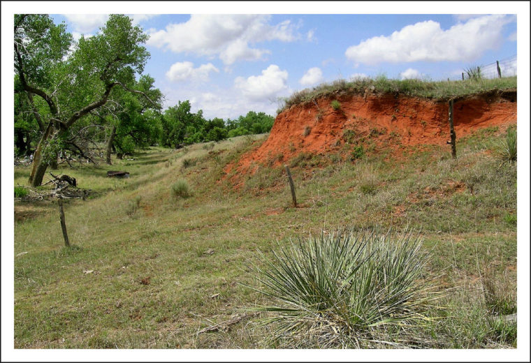 Oklahoma red clay soil. Flickr credit: Franklin B Thompson