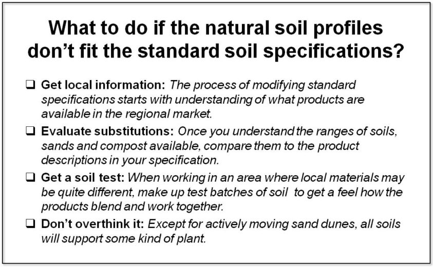 What to do when natural soils don't fit the specifications