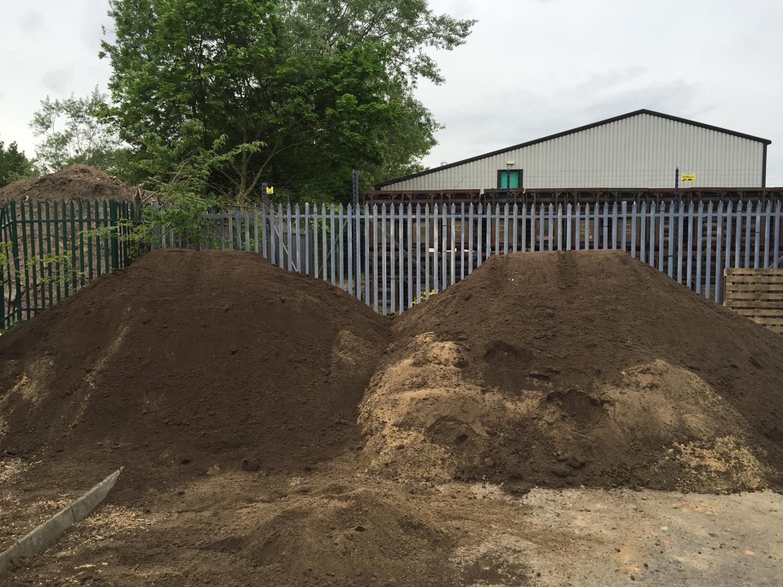 Piles of soil