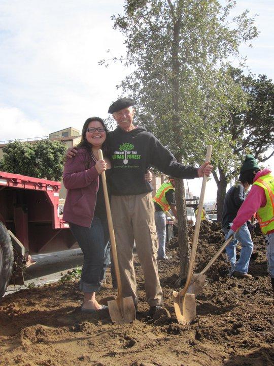Mei Ling with FUF volunteer Charlie Starbuck. Photo credit: Steven Bednarczyk.