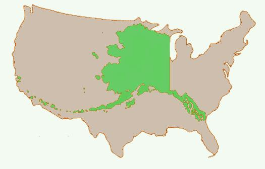 Its Different Here Maria DAgostino On Alaskan Urban Forestry - Alaska superimposed on us map