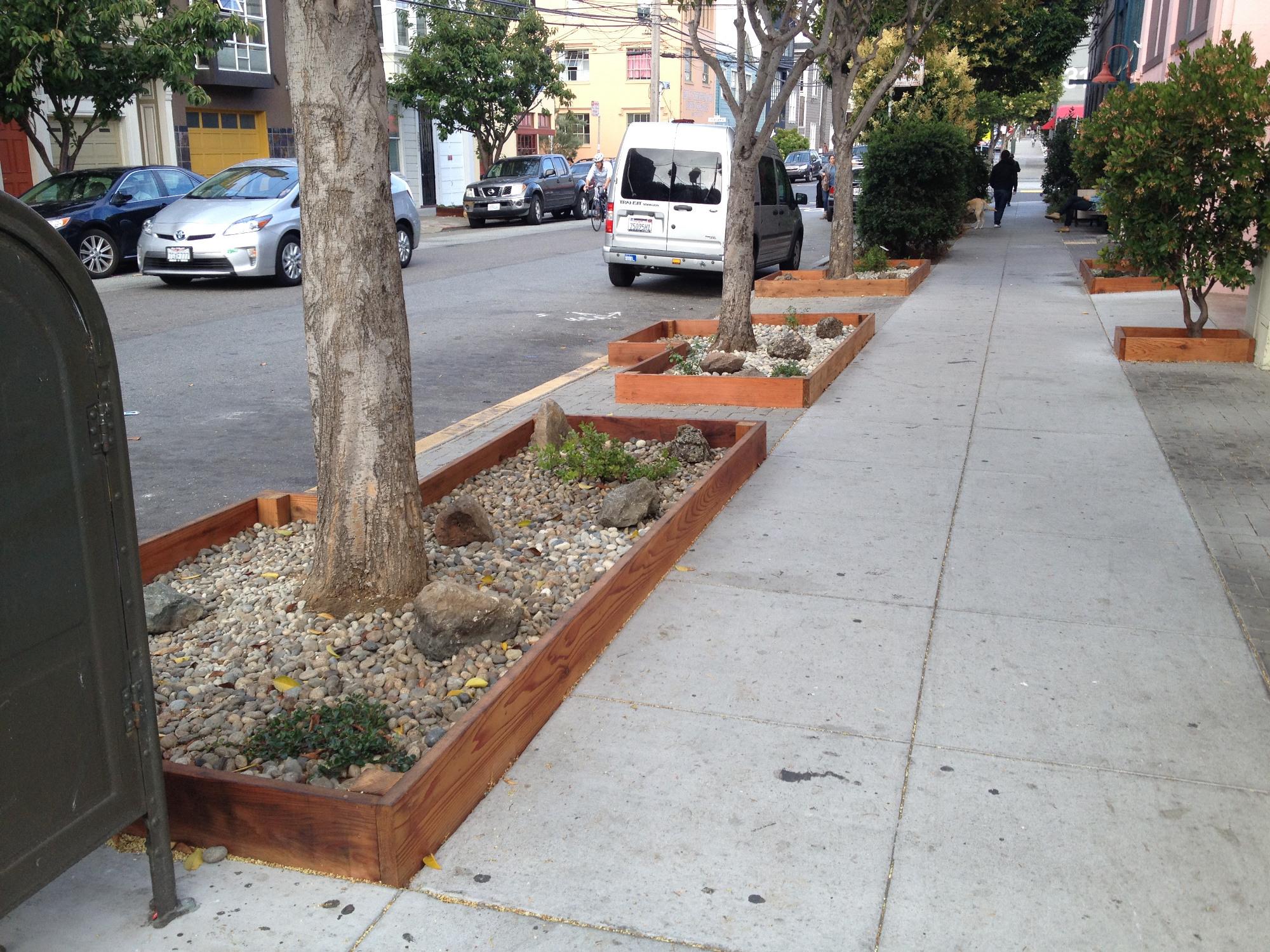 20th Street Garden, east end makeover, 2016